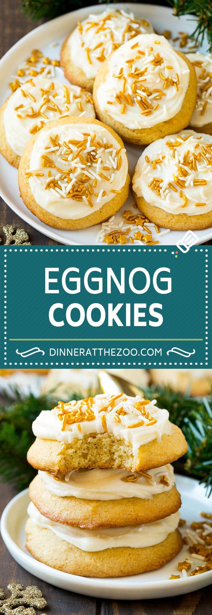 Eggnog Cookies Recipe | Holiday Cookies | Christmas Cookies #cookies #eggnog #baking #christmas #sprinkles #dessert #dinneratthezoo