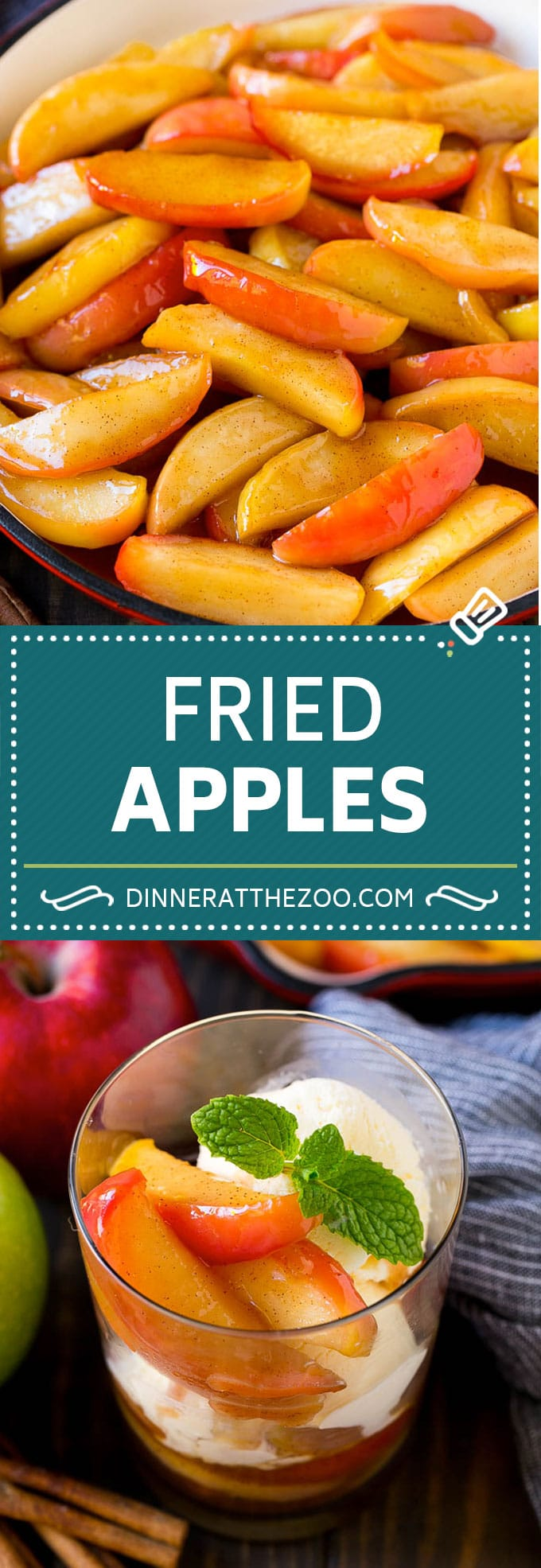 Fried Apples Recipe | Sauteed Apples | Cinnamon Sugar Apples #apples #cinnamon #sugar #sidedish #dessert #dinneratthezoo #fall