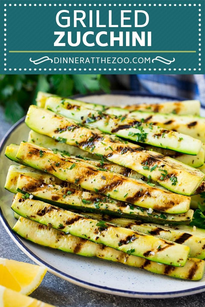 Grilled Zucchini Recipe | Marinated Zucchini | Zucchini Side Dish #zucchini #squash #grilling #lowcarb #keto #vegetarian #dinner #dinneratthezoo #cleaneating
