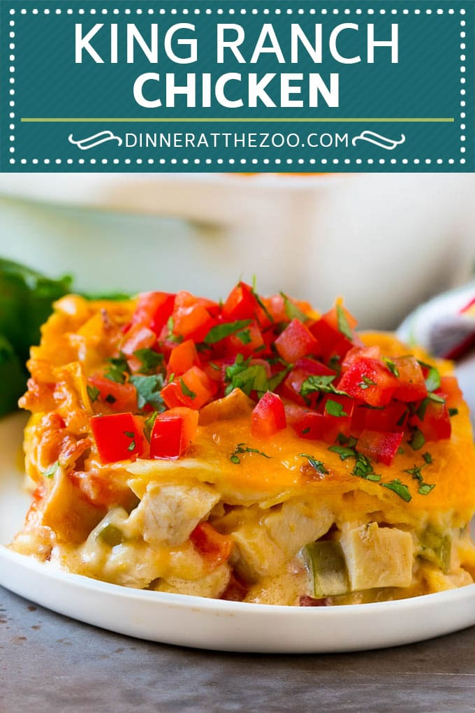King Ranch Chicken Recipe | Mexican Chicken Casserole | Creamy Chicken Casserole #casserole #chicken #cheese #comfortfood #dinner #dinneratthezoo