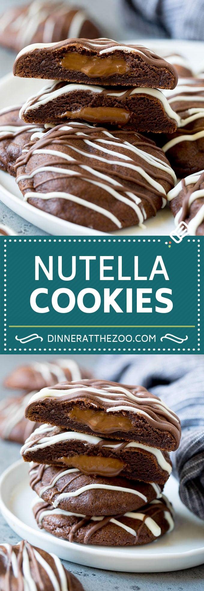 Nutella Cookies Recipe | Nutella Stuffed Cookies | Chocolate Cookies #nutella #chocolate #cookies #baking #dessert #dinneratthezoo