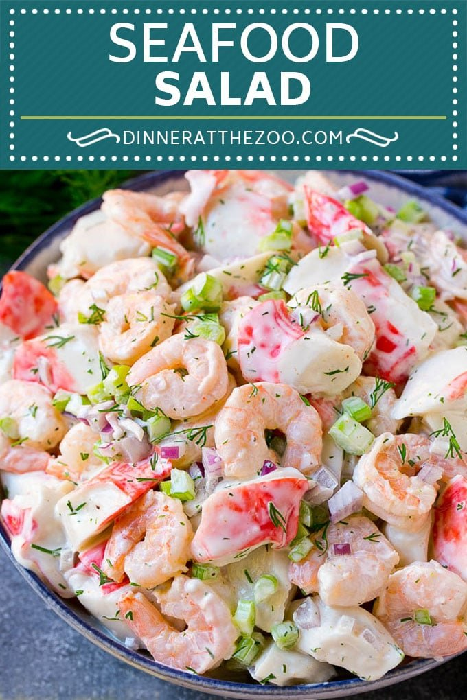 Seafood Salad Recipe | Shrimp Salad Recipe | Crab Salad #salad #shrimp #crab #seafood #lunch #lowcarb #dinner #dinneratthezoo