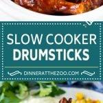 Slow Cooker Chicken Drumsticks Recipe | Crock Pot Chicken Drumsticks | BBQ Chicken Drumsticks #chicken #drumsticks #slowcooker #crockpot #bbq #dinner #dinneratthezoo