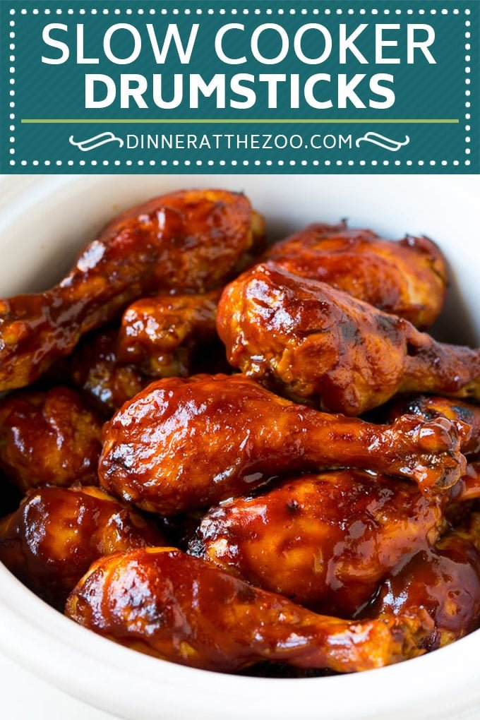 Slow Cooker Chicken Drumsticks Recipe | Crock Pot Chicken Drumsticks | BBQ Chicken Drumsticks #chicken #drumsticks #slowcooker #crockpot #bbq #dinner #dinneratthezoo