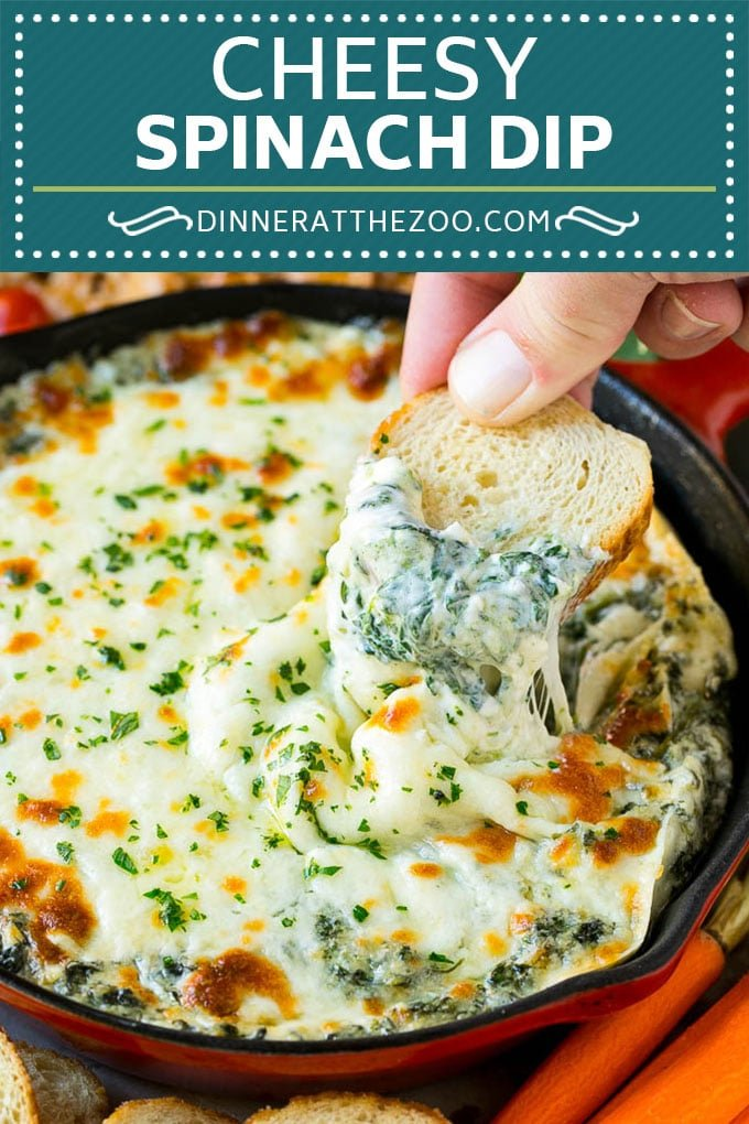 Spinach Dip Recipe | Cheese Dip | Hot Dip #dip #spinach #cheese #appetizer #lowcarb #keto #dinneratthezoo #cheese