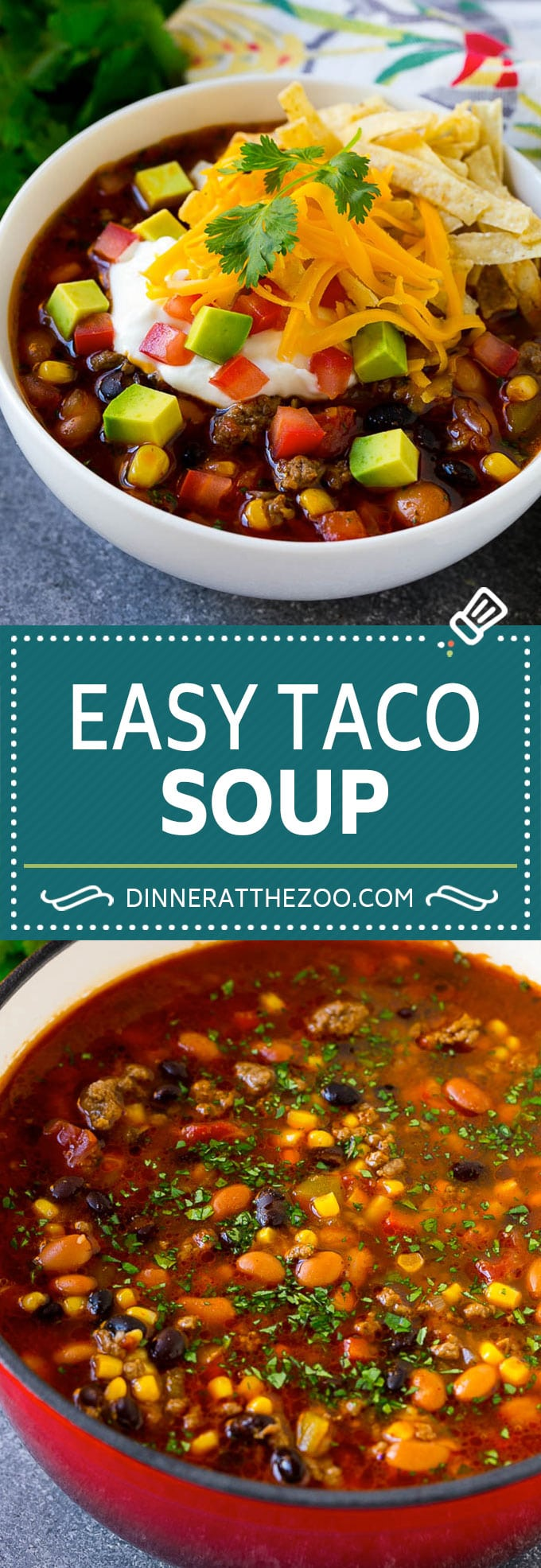 Taco Soup Recipe | Beef Taco Soup | Mexican Soup #soup #beef #taco #mexicanfood #beans #dinner #dinneratthezoo