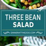 Three Bean Salad Recipe | Bean Salad | Green Bean Salad | Chickpea Salad #salad #beans #vegetables #vegetarian #glutenfree #dinneratthezoo