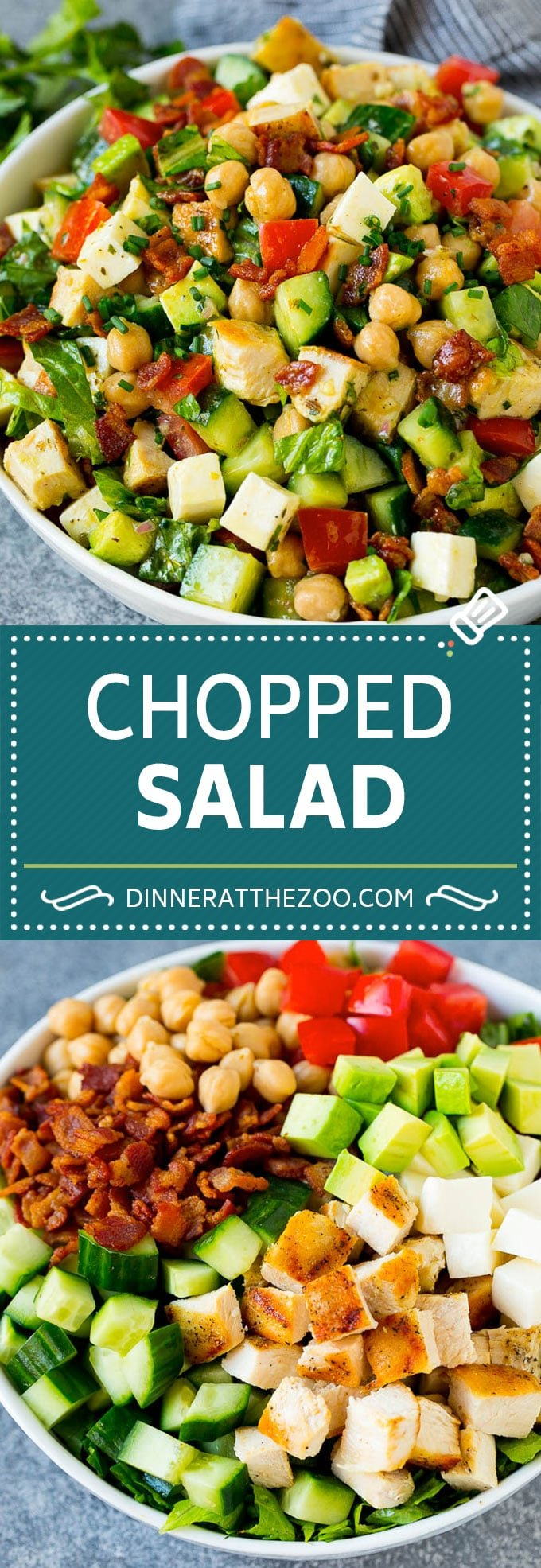 Chopped Salad Recipe | Chicken Salad | Avocado Salad #salad #chicken #avocado #bacon #glutenfree #dinner #dinneratthezoo #lunch