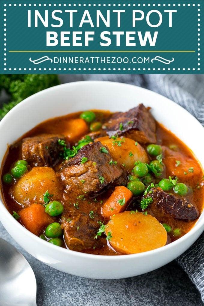 Instant Pot Beef Stew Recipe | Pressure Cooker Beef Stew | Beef Stew #beef #stew #soup #pressurecooker #instantpot #dinner #dinneratthezoo