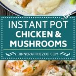 Instant Pot Chicken with Mushroom Sauce | Instant Pot Chicken Recipe | Mushroom Chicken #instantpot #chicken #mushrooms #pressurecooker #dinner #dinneratthezoo