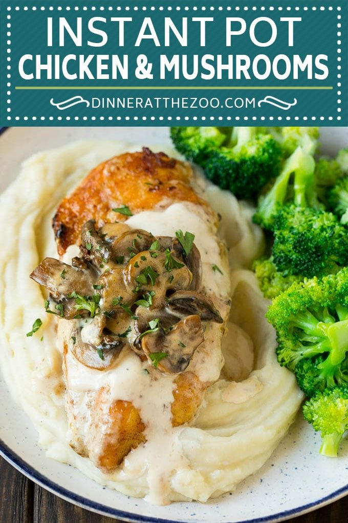Instant Pot Chicken with Mushroom Sauce | Instant Pot Chicken Recipe | Mushroom Chicken #instantpot #chicken #mushrooms #pressurecooker #dinner #dinneratthezoo