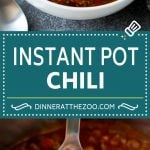 Instant Pot Chili Recipe | Pressure Cooker Chili | Beef Chili | Beef and Bean Chili #chili #beef #beans #instantpot #pressurecooker #dinner #soup #dinneratthezoo