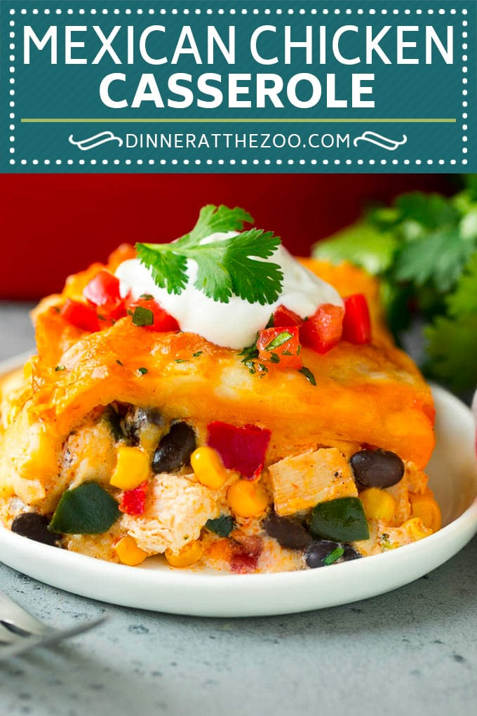 Mexican Casserole Recipe | Mexican Chicken Casserole | Tortilla Casserole #casserole #chicken #beans #mexicanfood #dinner #dinneratthezoo #comfortfood