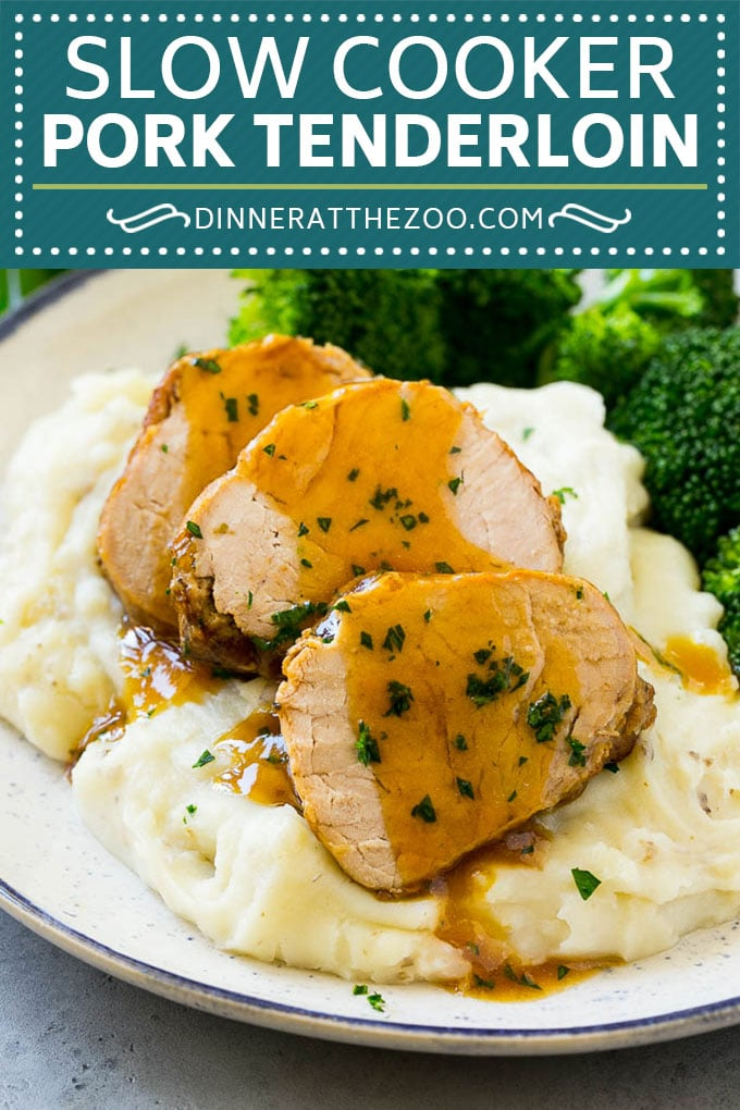 Slow Cooker Pork Tenderloin Recipe | Crock Pot Pork Tenderloin | Easy Pork Tenderloin #slowcooker #crockpot #pork #dinner #dinneratthezoo