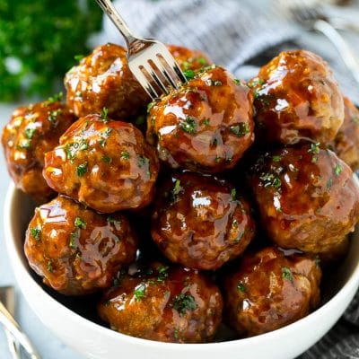 Sweet and Sour Meatballs (Slow Cooker)