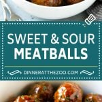 Sweet and Sour Meatballs Recipe | Slow Cooker Meatballs | Crockpot Meatballs | Cocktail Meatballs #meatballs #beef #slowcooker #crockpot #dinner #appetizer #dinneratthezoo