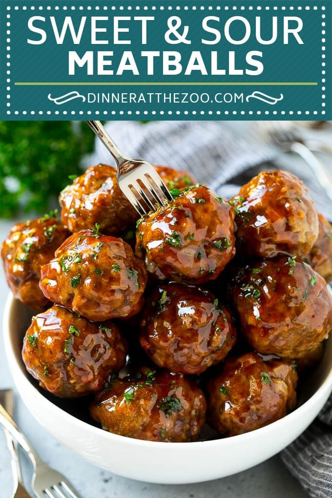 Sweet And Sour Meatballs Slow Cooker Dinner At The Zoo