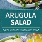 Arugula Salad Recipe   Green Salad   White Bean Salad #salad #arugula #cleaneating #lowcarb #keto #dinneratthezoo