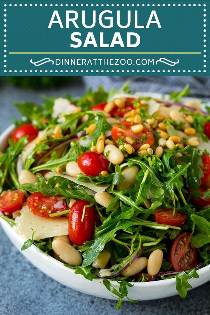 Arugula Salad Recipe | Green Salad | White Bean Salad #salad #arugula #cleaneating #lowcarb #keto #dinneratthezoo