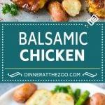 Balsamic Chicken Recipe | Sheet Pan Chicken | Glazed Chicken #chicken #asparagus #potatoes #dinner #glutenfree #dinneratthezoo