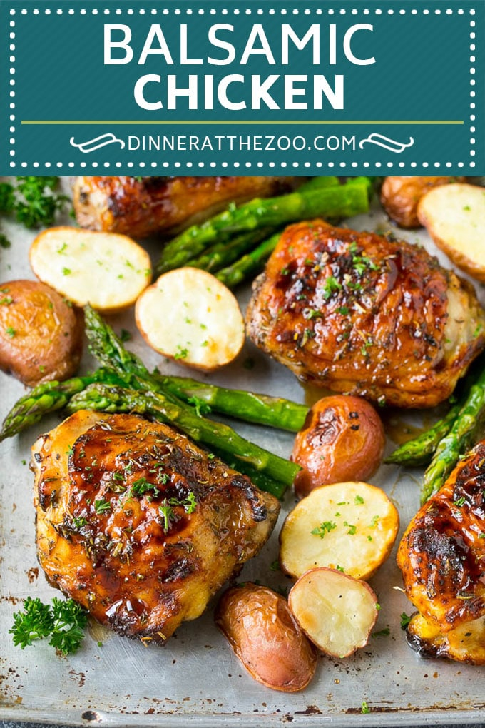 Balsamic Chicken Recipe | Sheet Pan Chicken | Glazed Chicken #chicken #asparagus #potatoes #dinner #glutenfree #dinneratthezoo