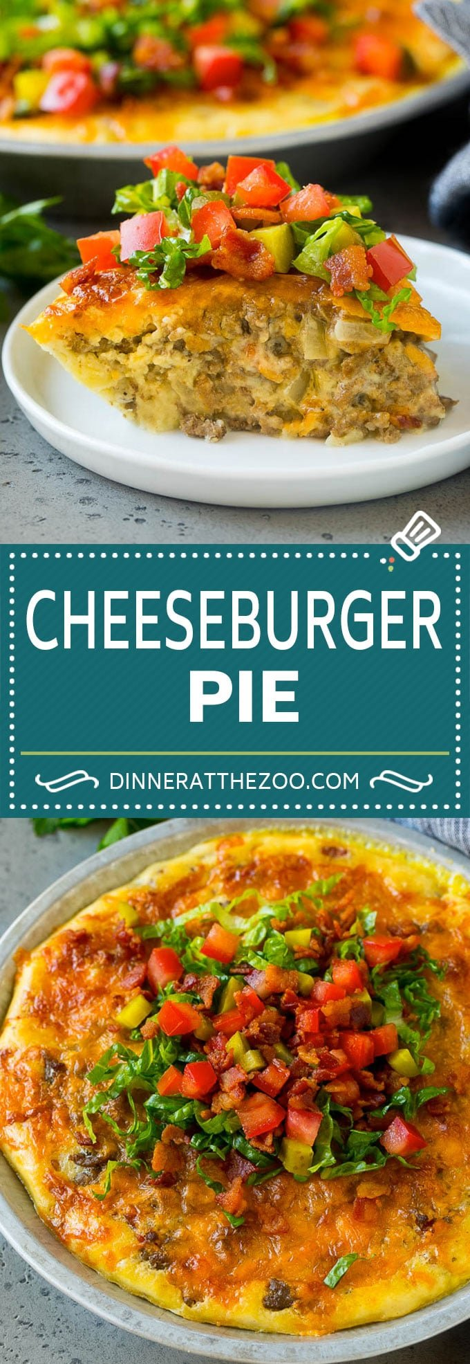 Cheeseburger Pie Recipe | Cheeseburger Casserole | Ground Beef Recipe #cheeseburger #beef #bacon #cheese #casserole #dinner #dinneratthezoo