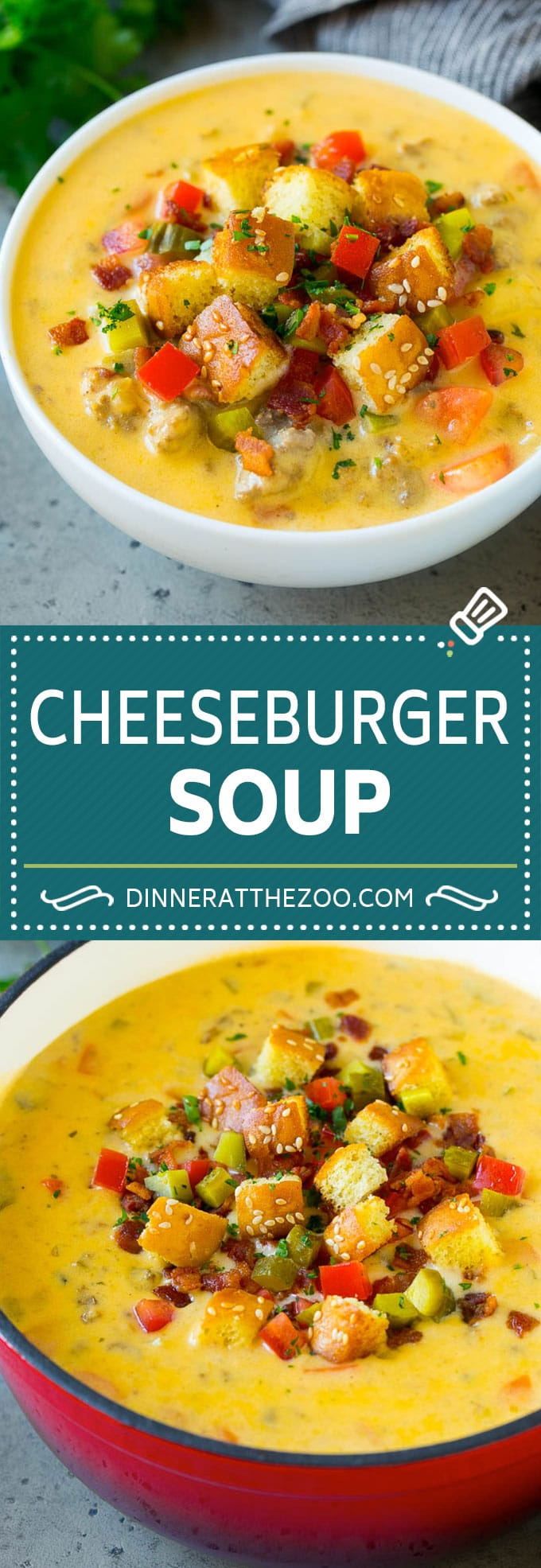 Cheeseburger Soup Recipe | Hamburger Soup | Cheese Soup #soup #groundbeef #hamburger #cheese #bacon #dinner #dinneratthezoo