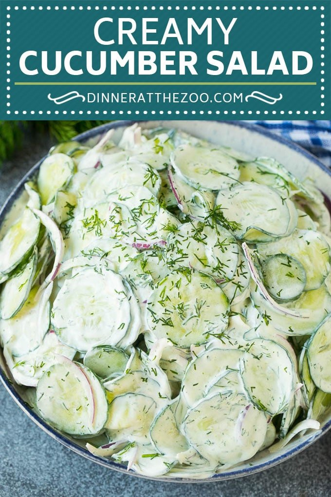 Creamy Cucumber Salad Recipe | German Cucumber Salad | Cucumber Salad #cucumber #salad #dinner #lunch #dinneratthezoo #cucumbersalad