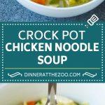 Crock Pot Chicken Noodle Soup Recipe | Slow Cooker Chicken Noodle Soup | Chicken Soup #soup #chicken #noodles #dinner #slowcooker #crockpot #dinneratthezoo
