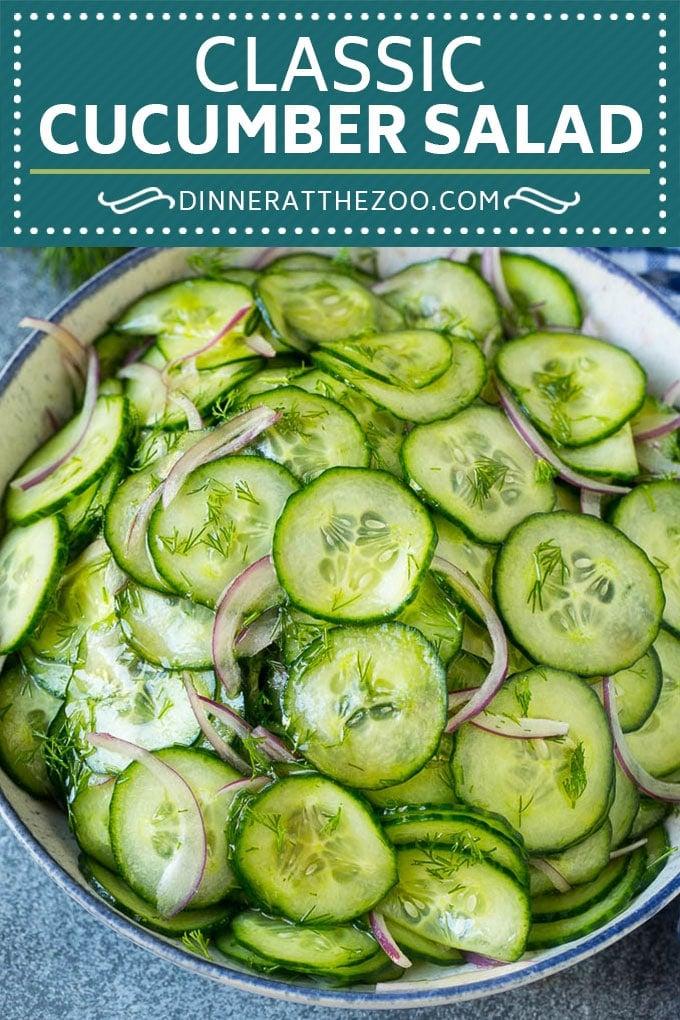 Cucumber Salad Recipe | Cucumber Dill Salad | Cucumber Recipe #cucumbers #salad #glutenfree #sidedish #dinneratthezoo