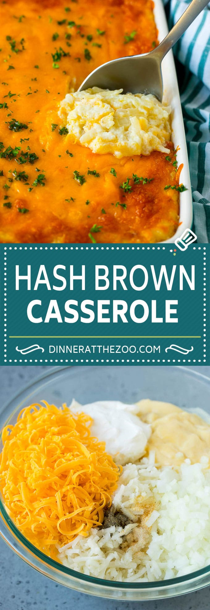 Hash Brown Casserole | Potato Casserole | Hash Brown Side Dish #potatoes #cheese #casserole #sidedish #dinneratthezoo