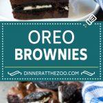 Oreo Brownies Recipe   Homemade Brownies   Chocolate Chip Brownies #brownies #oreos #chocolate #dessert #sweets #dinneratthezoo