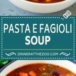 Pasta e Fagioli Soup   Pasta Fazool   Beef Soup   Italian Soup #soup #beef #italianfood #pasta #dinner #dinneratthezoo