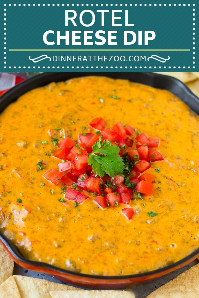 Rotel Dip Recipe | Mexican Cheese Dip | Beef and Cheese Dip | Velveeta Dip #dip #appetizer #hamburger #tomatoes #cheese #dinneratthezoo