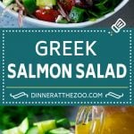 Greek Salmon Salad Recipe | Low Carb Salmon Recipe | Salmon Salad #salmon #seafood #fish #lowcarb #keto #lunch #dinneratthezoo #healthy