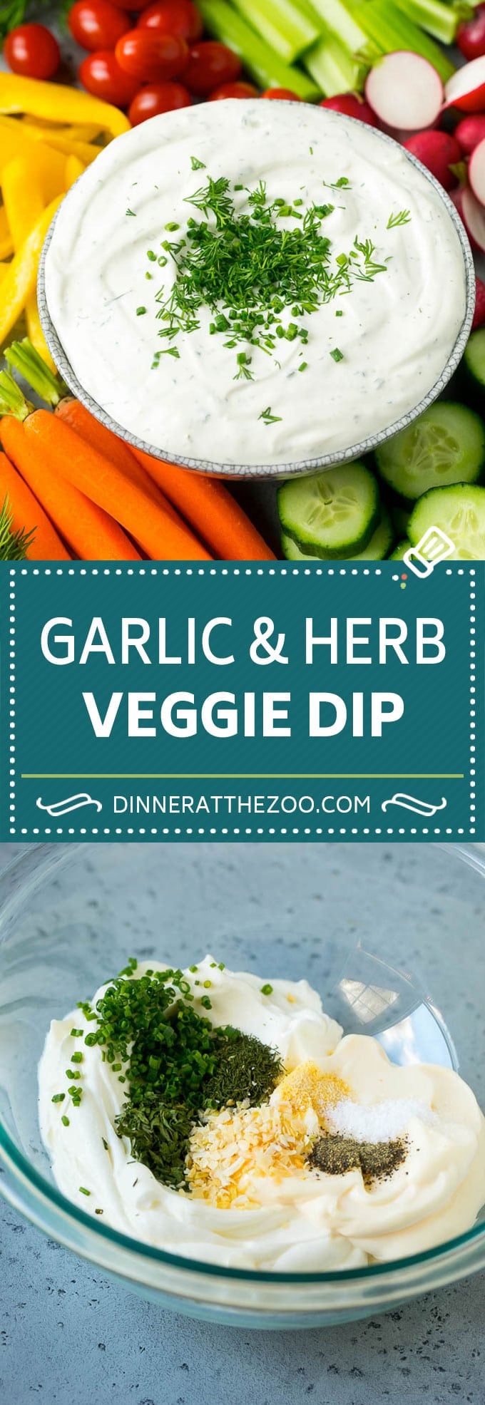 Veggie Dip Recipe   Garlic & Herb Dip   Vegetable Dip #dip #appetizer #lowcarb #keto #vegetables #dinneratthezoo