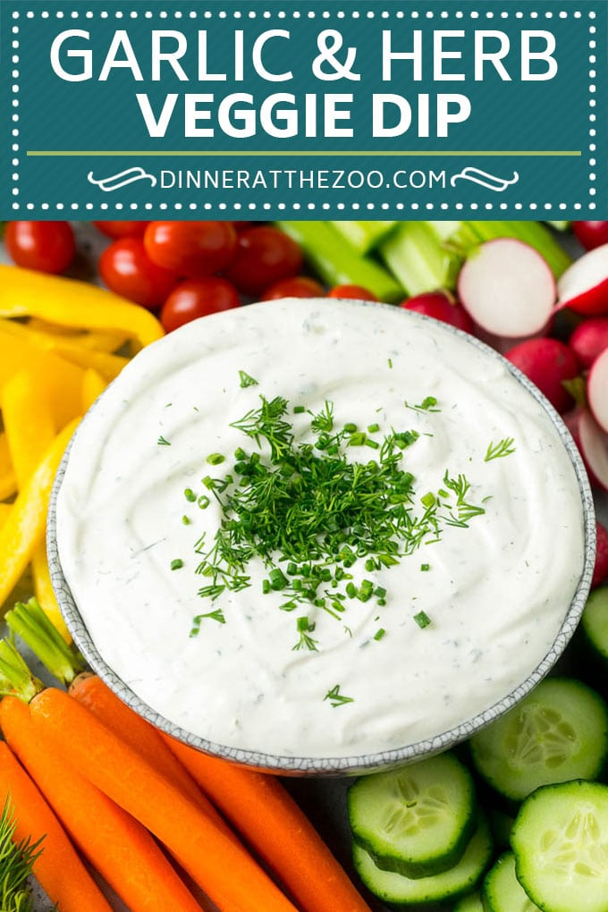 Veggie Dip Recipe | Garlic & Herb Dip | Vegetable Dip #dip #appetizer #lowcarb #keto #vegetables #dinneratthezoo