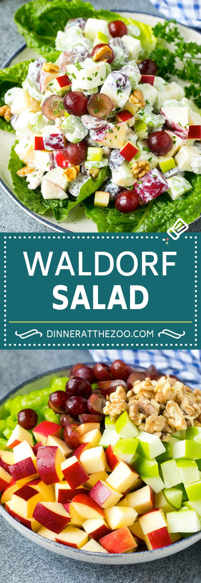 Waldorf Salad Recipe | Apple Salad | Fruit Salad #salad #fruit #apples #grapes #lunch #dinneratthezoo #glutenfree