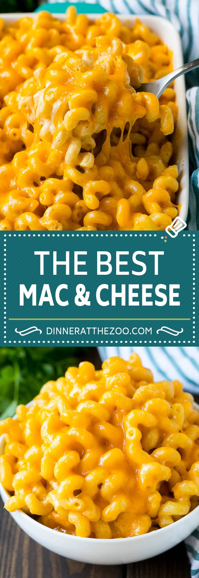 This baked mac and cheese is a blend of tender noodles in a rich and creamy cheese sauce.