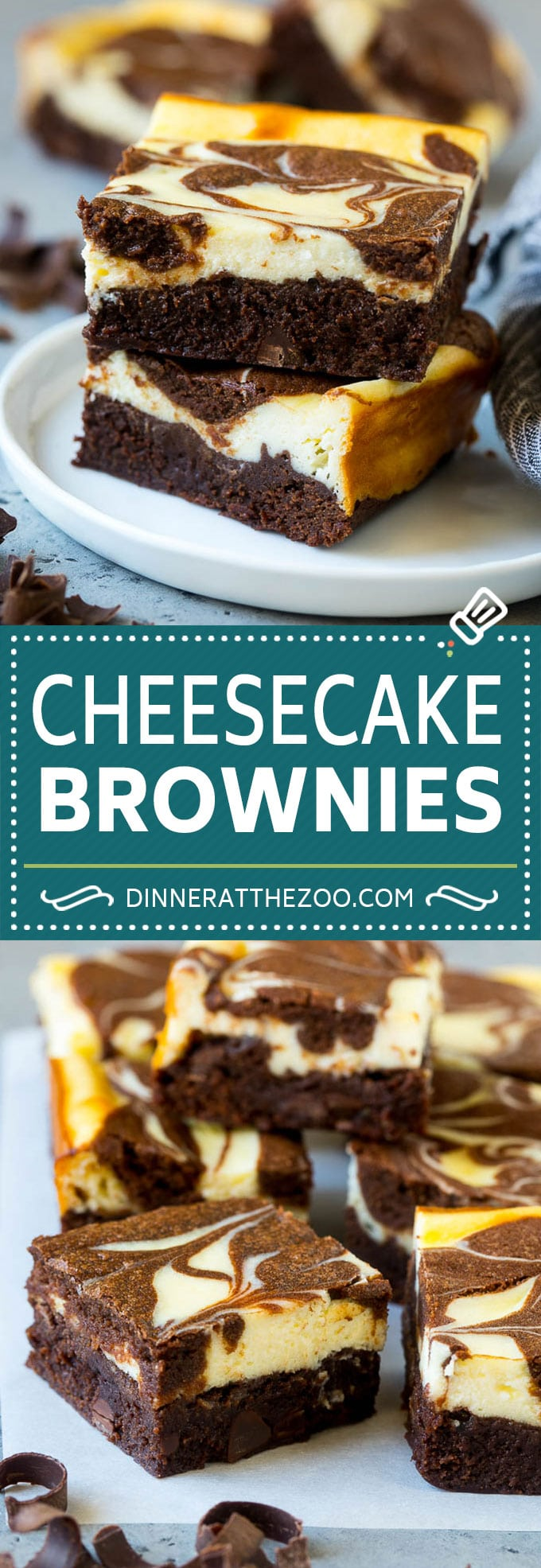 Cheesecake Brownies Recipe | Cream Cheese Brownies | Homemade Brownies #brownies #cheesecake #chocolate #dessert #dinneratthezoo