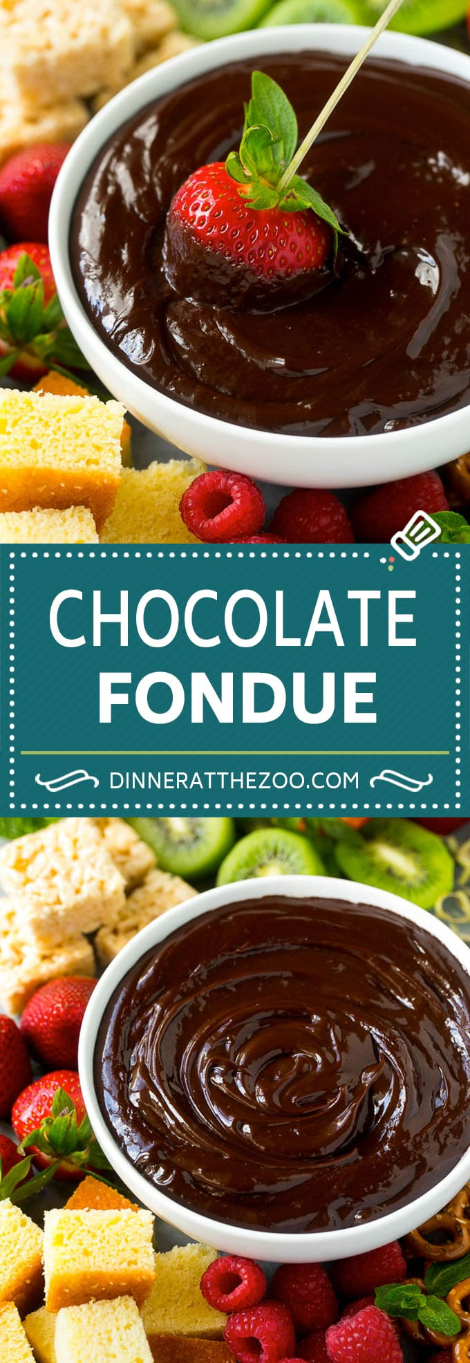 Chocolate Fondue Recipe | Chocolate Sauce | Chocolate Dip #chocolate #dessert #glutenfree #fondue #dinneratthezoo