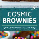 Cosmic Brownies Recipe | Cocoa Brownies | Frosted Brownies #brownies #chocolate #dessert #dinneratthezoo #sprinkles