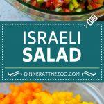 Israeli Salad Recipe | Cucumber Salad | Tomato Salad | Chopped Salad #salad #cleaneating #healthy #glutenfree #lowcarb #keto #sidedish #lunch #dinneratthezoo