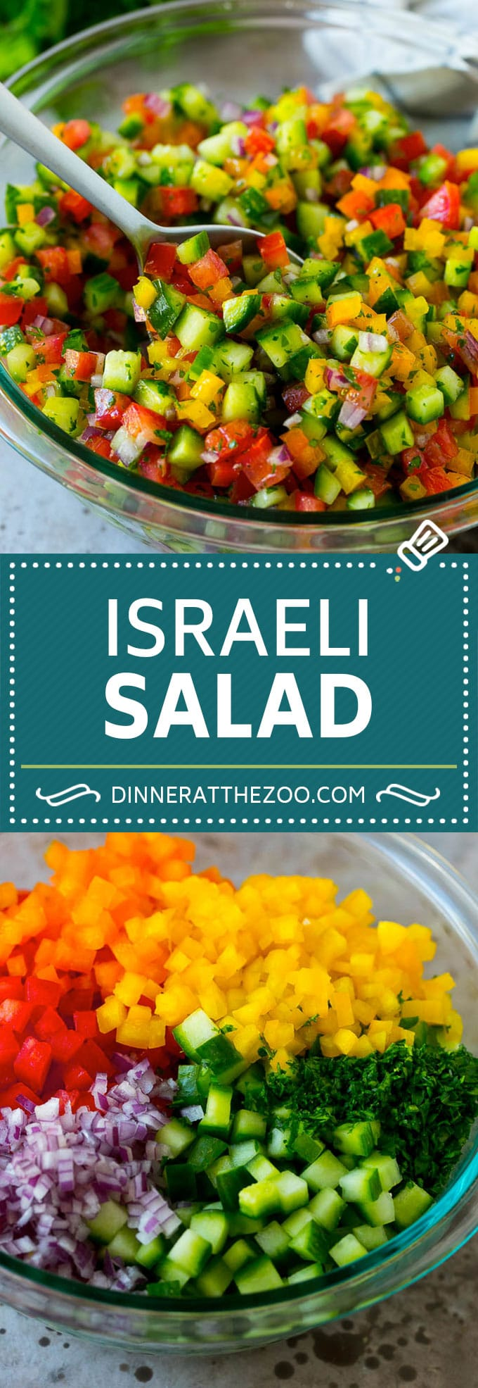 Israeli Salad Recipe | Cucumber Salad | Tomato Salad | Chopped Salad #salad #cleaneating #healthy #glutenfree #lowcarb #keto #sidedish #lunch #dinneratthezoo