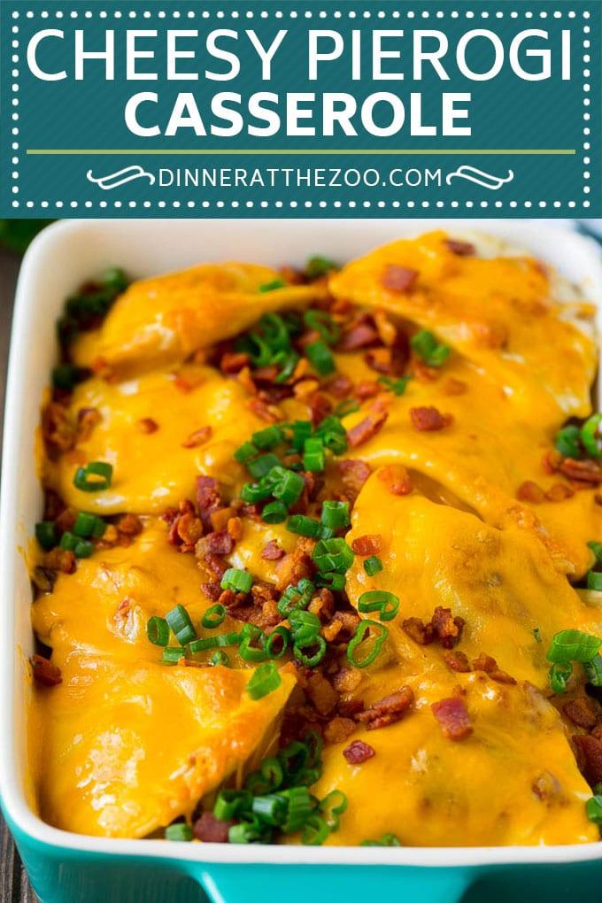 Pierogi Casserole Recipe | Potato Casserole #pierogis #casserole #bacon #cheddar #dinner #dinneratthezoo