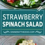 Strawberry Spinach Salad Recipe   Strawberry Salad   Spinach Salad #spinach #salad #strawberries #avocado #dinneratthezoo