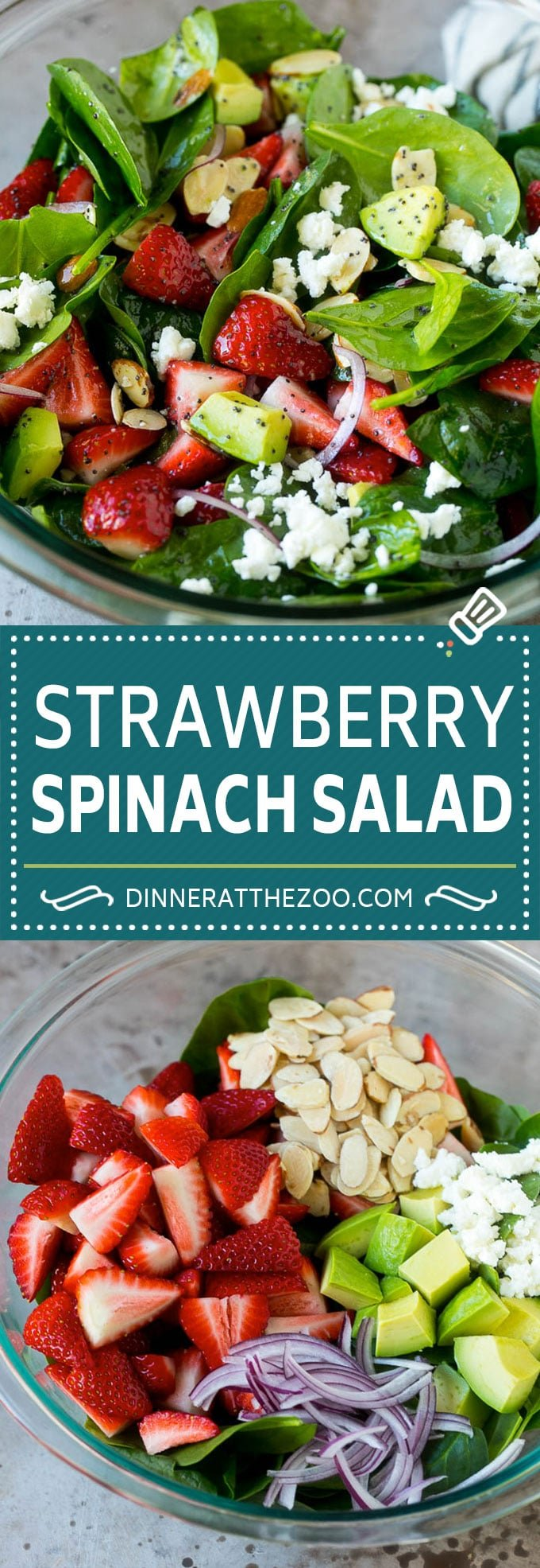 Strawberry Spinach Salad Recipe | Strawberry Salad | Spinach Salad #spinach #salad #strawberries #avocado #dinneratthezoo