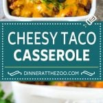 Taco Casserole Recipe | Mexican Casserole | Beef Casserole #casserole #tacos #beef #dinner #cheese #dinneratthezoo