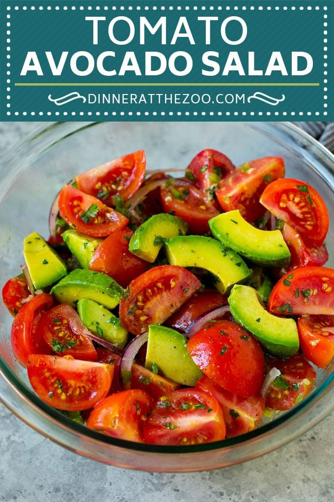Tomato Avocado Salad Recipe | Avocado Salad | Tomato Salad #salad #tomato #avocado #glutenfree #cleaneating #dinner #dinneratthezoo #healthy