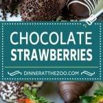 Chocolate Covered Strawberries Recipe | Chocolate Dipped Strawberries | Strawberry Dessert #chocolate #strawberry #glutenfree #dessert #dinneratthezoo